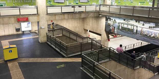 Le réaménagement des stations de métro Bourse et De Brouckère sera terminé pour début 2019 - La Libre
