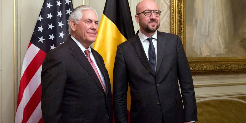 """Charles Michel: """"Les Etats-Unis apprécient les efforts militaires de la Belgique"""""""
