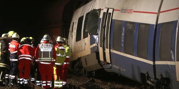 Allemagne: 41 blessés dans la collision entre deux trains - La Libre