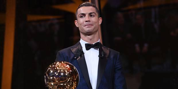 Cristiano Ronaldo remporte son 5e Ballon d'Or devant Messi et Neymar, le meilleur belge est 14e - La Libre