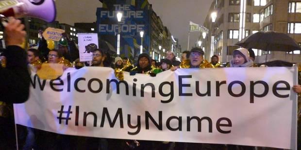 Bruxelles: plusieurs milliers de manifestants ont réclamé une autre politique migratoire européenne (PHOTOS) - La Libre