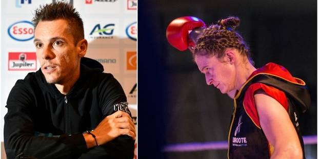 Gala du Sport 2017 : Philippe Gilbert et Delfine Persoon au pied du podium du Sportif et de la Sportive belge - La Libre
