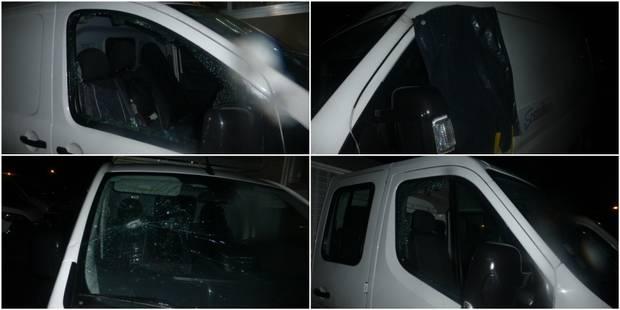 Huit camionnettes de la Sambrienne vandalisées à Marcinelle (VIDEO) - La Libre