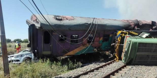 Afrique du Sud: au moins 18 morts dans un accident de train - La Libre