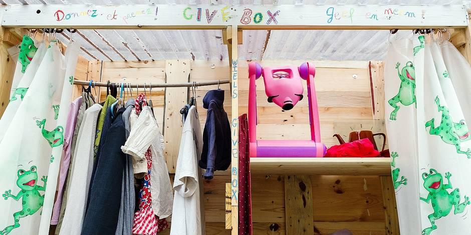 Buxelles -Forest: Give box - Quartier durable