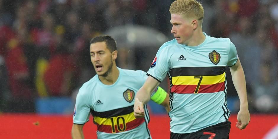 De Bruyne et Hazard élus par les fans dans le onze UEFA de l'année