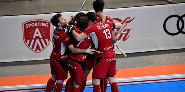 Euro Hockey Indoor: La Belgique fait match nul face à l'Autriche (3-3) et passe en demi - La Libre