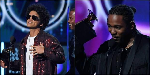 Bruno Mars et Kendrick Lamar grands vainqueurs des Grammys - La Libre