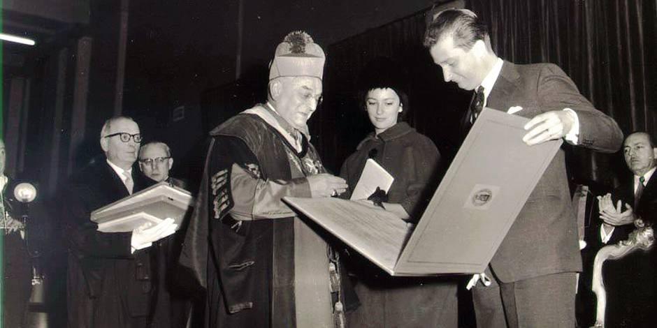 EXPO BELGA - 17452 - PRINCE ALBERT DOCTOR HONORIS CAUSA EN 1961