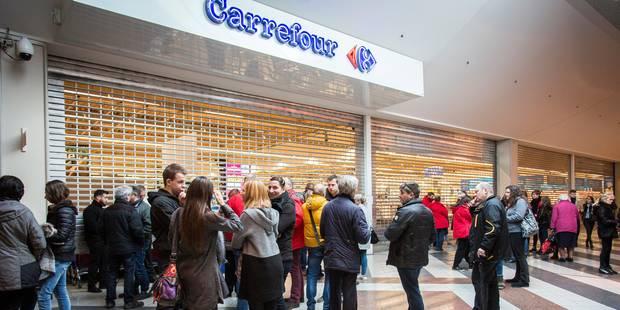 Le personnel du Carrefour d'Angleur (Belle-île) s'impatiente de plus en plus - La Libre