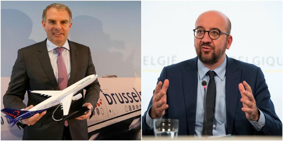 """Le patron de Lufthansa """"irrité"""" par la presse belge, le long entretien """"rugueux"""" de Charles Michel: dans les coulisses d..."""