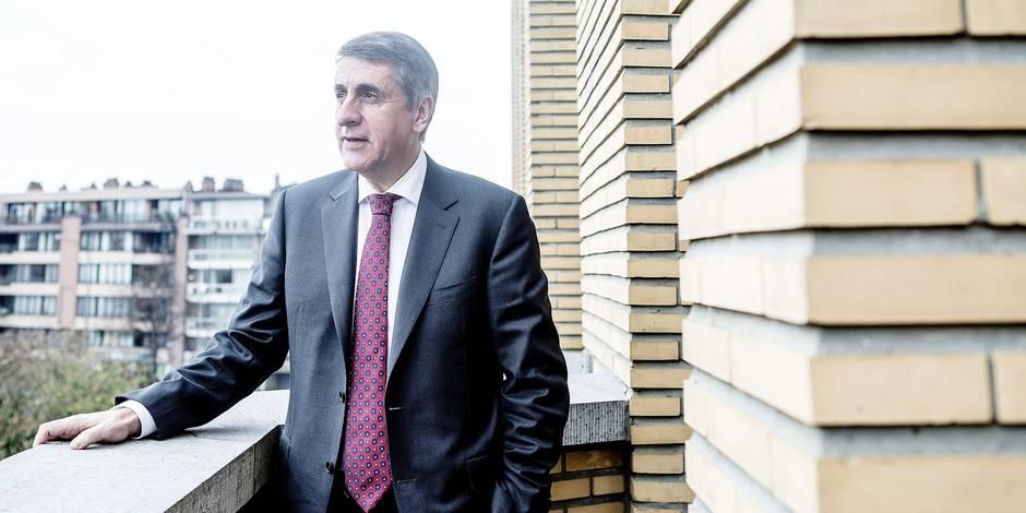 Olivier Maingain, president du parti Defi, bourgmestre de Woluwe-Saint-Lambert