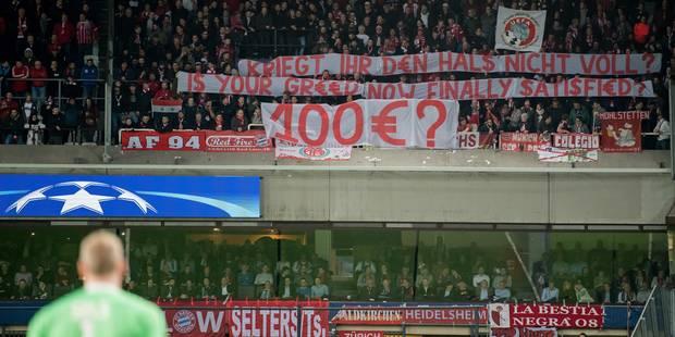 100€ par ticket : L'UEFA oblige Anderlecht à rembourser partiellement les supporters du Bayern - La Libre
