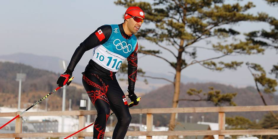 Tonga's Pita Taufatofua competes during the men's 15km cross country freestyle at the Alpensia cross country ski centre during the Pyeongchang 2018 Winter Olympic Games on February 16, 2018 in Pyeongchang. / AFP PHOTO / Odd ANDERSEN