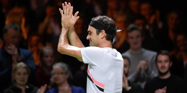 ATP Rotterdam: Roger Federer fête son statut de N.1 mondial par une qualification en finale - La Libre