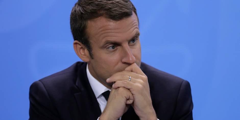 La cote de popularité d'Emmanuel Macron chute de six points