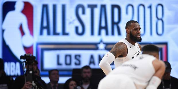 NBA: L'équipe de LeBron James remporte un All-Star Game 2018 disputé - La Libre