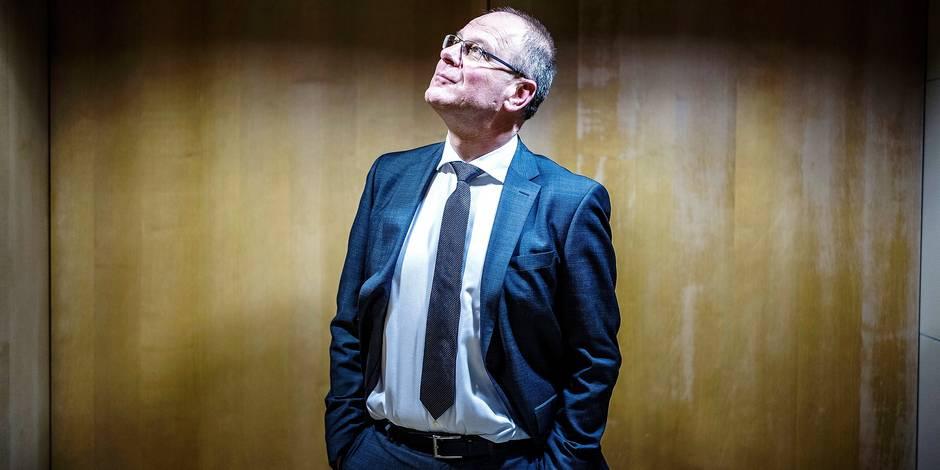 20170219 - BELGIQUE, BRUXELLES: Portrait de Tibor Navracsics, commissaire européen en charge de la culture, le 19 fevrier 2018. PHOTO OLIVIER PAPEGNIES / COLLECTIF HUMA