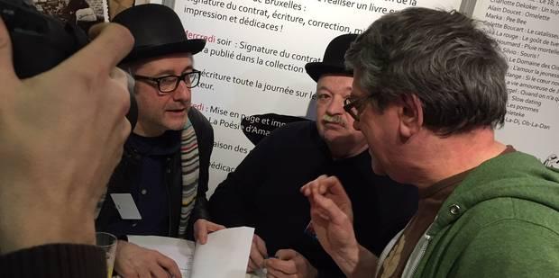 A La Foire du Livre, Brice Depasse a quelques heures pour écrire un livre - La Libre