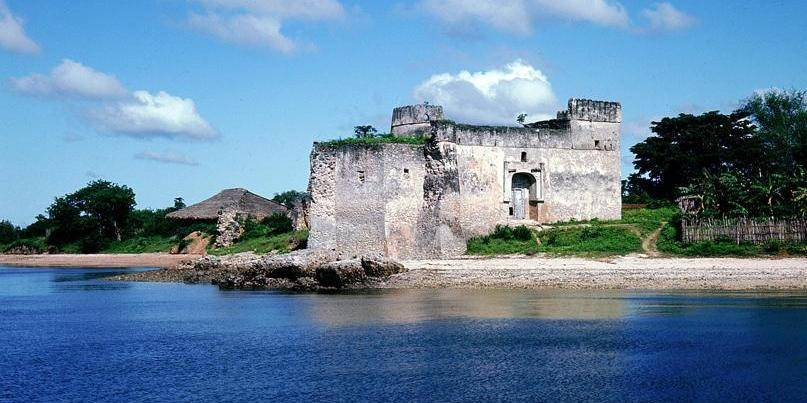 A view to the fort at Kilwa, an East African trading town which dates from the 13th century. Country of Origin: Tanzania. Culture: Portuguese. Date/Period: dates from 13th century. Credit Line: Werner Forman Archive. Location: 60.