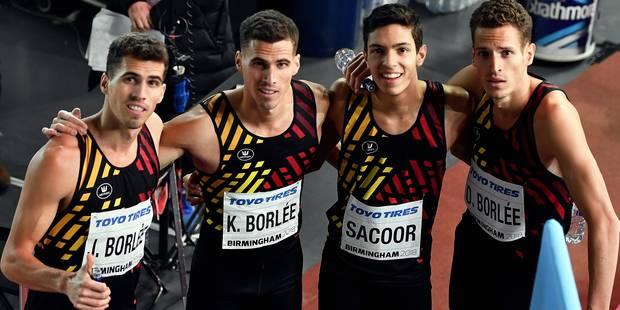 Mondial indoor d'athlétisme: Médaille de bronze et record de Belgique pour les Belgian Tornados! - La Libre