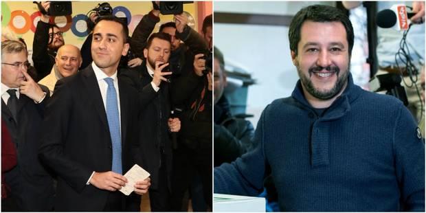 Elections législatives en Italie: La coalition de droite en tête, le Mouvement 5 Etoiles premier parti, selon les sondag...