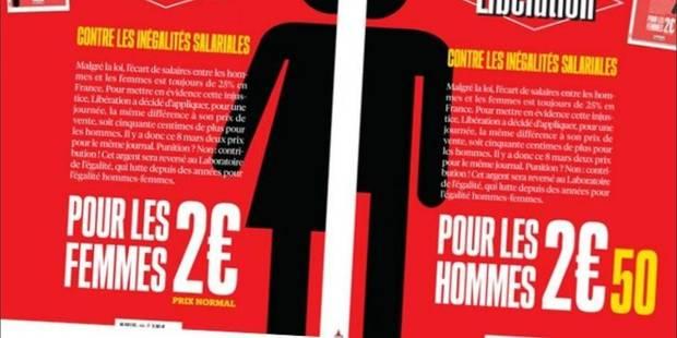 Le journal Libération vendu 50 centimes plus cher aux hommes qu'aux femmes ce jeudi 8 mars - La Libre