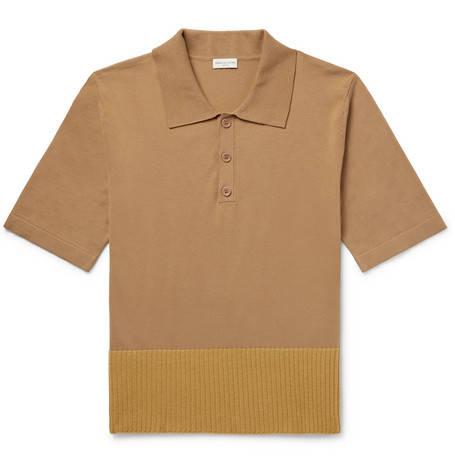 Dries Van Noten, Contrast-Trimmed Cotton And Merino Wool-Blend Polo Shirt,     455 euros.