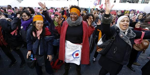 Manifestation à Bruxelles pour les droits économiques des femmes - La Libre