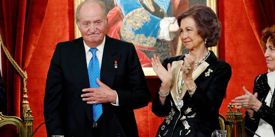 05-03-2018 Spain King Juan Carlos and Queen Sofia attend an act by the Spanish Royal History Academy in Madrid, Spain The event was held to honor King Juan Carlos I on the occation of his 80th birthday that was celebrated on 05 January 2018. © PPE/Thorton Reporters / PPE