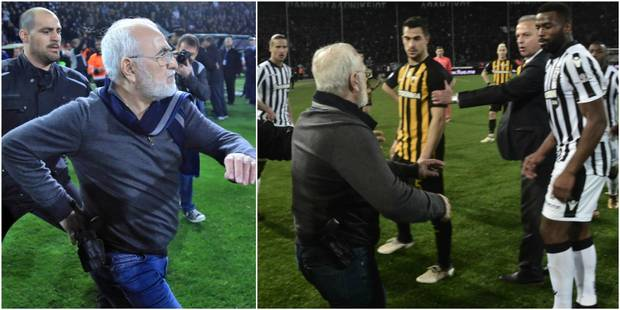 Championnat suspendu en Grèce après des menaces sur le terrain (PHOTOS ET VIDÉO) - La Libre