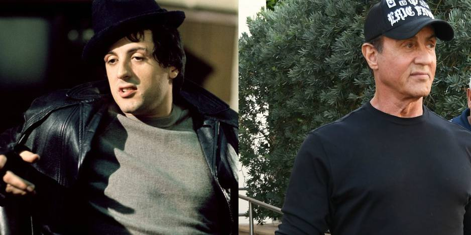Sylvester Stallone en 1976 contre Sylvester Stallone aujourd'hui.