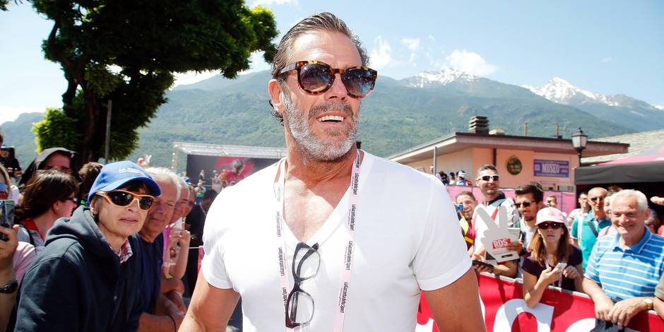 Sestriere - Italy - wielrennen - cycling - radsport - cyclisme - Mario Cipollini pictured during Giro d'Italia 2015 - stage-20 - from Saint Vincent to Sestriere - photo IB/LB/RB/Cor Vos © 2015 © Photo News