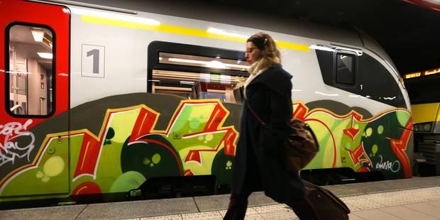 Combien le vandalisme et les graffitis ont coûté à la SNCB au 1er semestre 2017 - La Libre