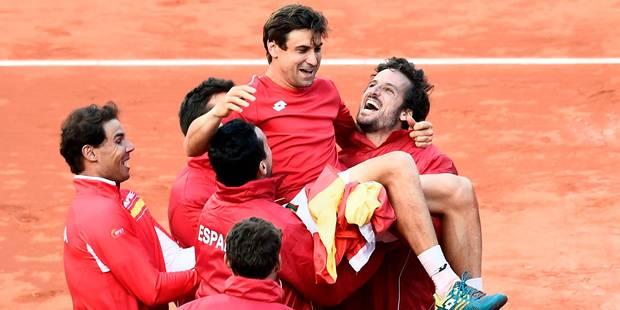Coupe Davis: l'Espagne complète le dernier carré au terme d'un match épique - La Libre