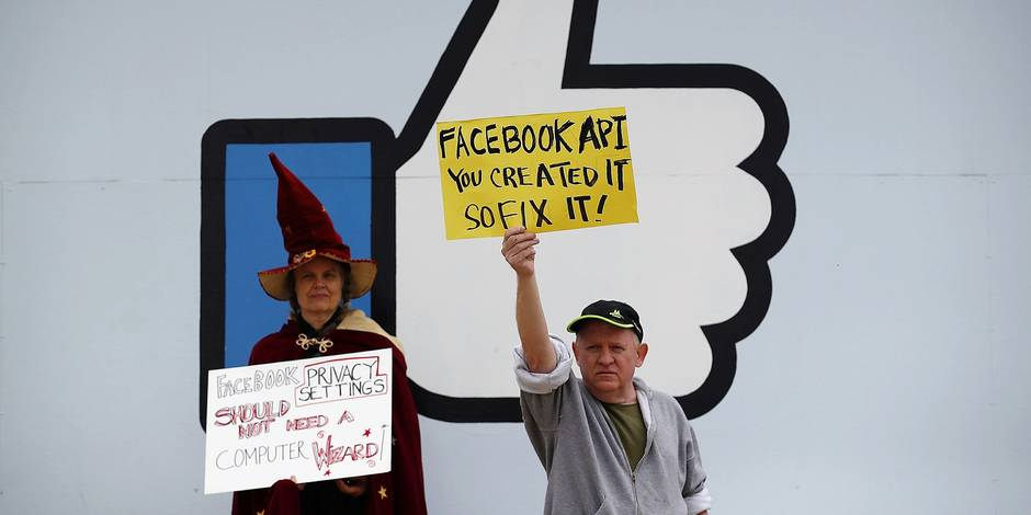 Protestors Call For Consumer Protection And Privacy Outside Facebook HQ