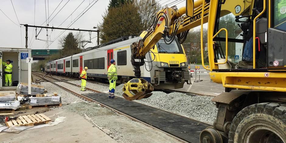9 jours de travaux, 500 travailleurs... l'importante modernisation du rail de l'axe Wavre-Louvain