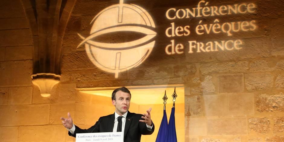 Edito: Le discours de Macron à la Conférence des évêques était courageux, subtil, nécessaire - La Libre