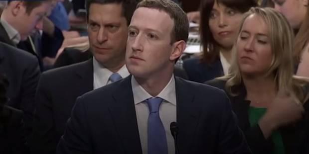 Quand Mark Zuckerberg est déstabilisé par une question personnelle au sénat américain (VIDEO) - La Libre