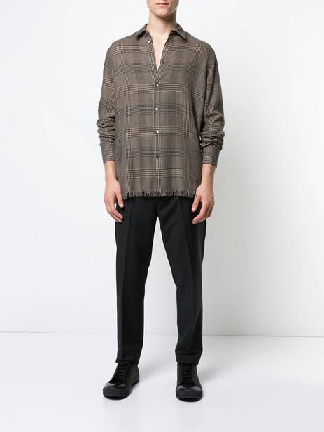 Federico Curradi. Chemise à motif Prince de Galles.         964 euros