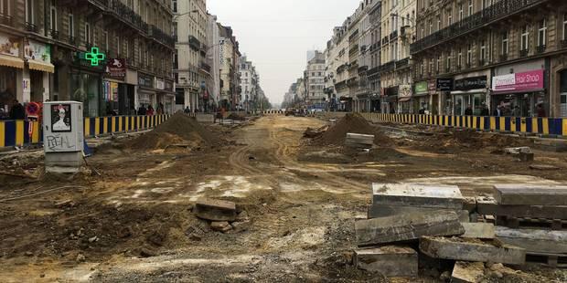 Travaux d'aménagement: où en est le piétonnier de Bruxelles? - La Libre