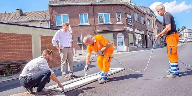 Charleroi: la Ville met les bouchées doubles pour le marquage routier - La Libre